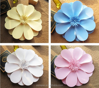 2016 hotsale Large flower decoration paper art paper flowers decorated the living room window 15cm Foam Flower