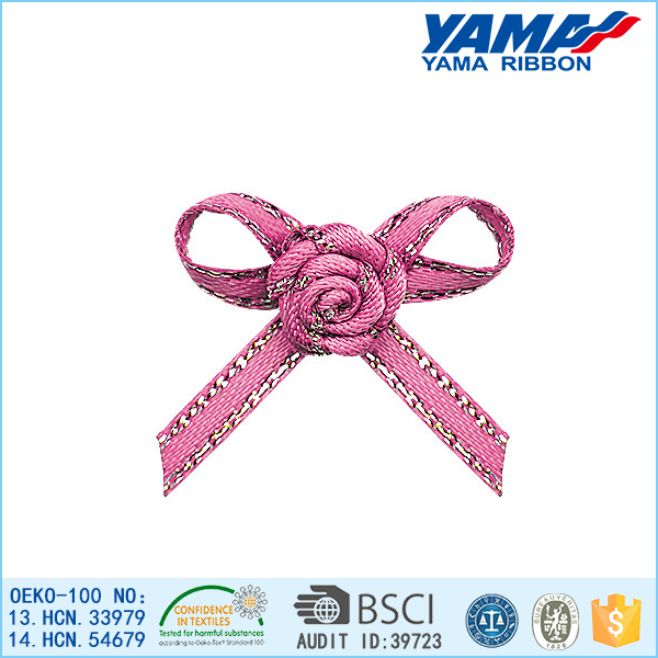 High grade low cost gold metallic edge ribbon bows making