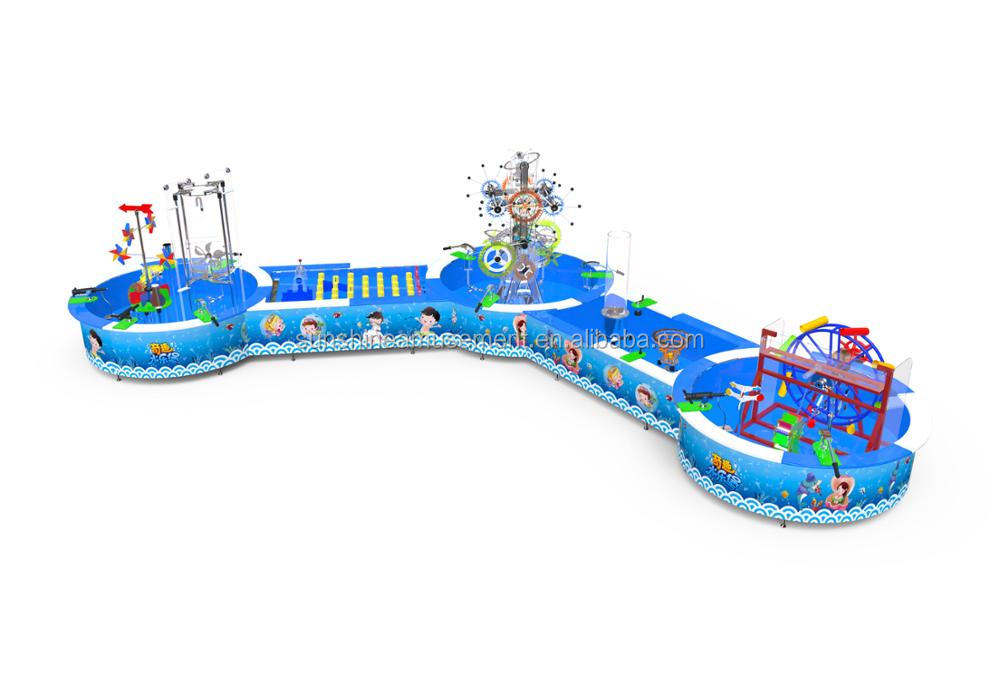 Hot sale mini indoor water park for kids water table children commercial indoor playground equipment