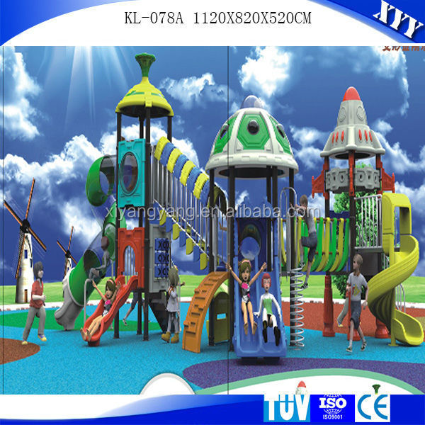 Animal world series children outdoor playground plastic slide
