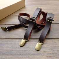 Handmade Band imitation leather straps 1.5cm men and women suspenders