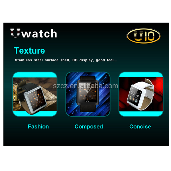 High quality China market newest arrivel model <strong>U10</strong> Smart Watch