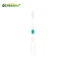 Crystal transparent plastic adult toothbrush