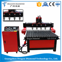 Multi spindle cnc wood router,Multi head four head cnc carving machine,cnc engraving machine