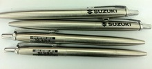 Good quality stainless steel metal pen silver metal roller ball pen with engrave logo metal bic pen