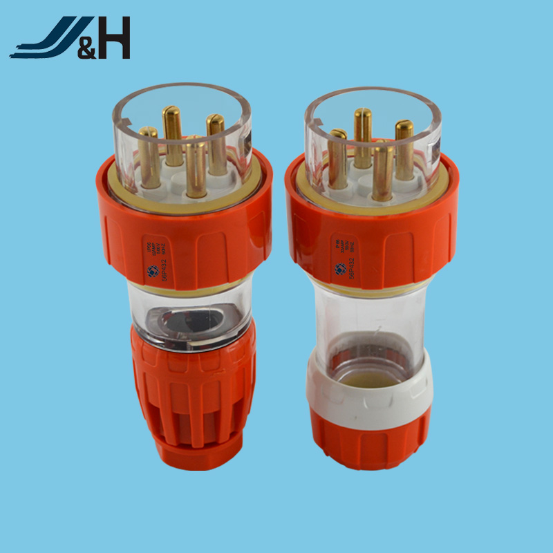IP66 Australia 4 round pin industrial socket 32A 56SO432