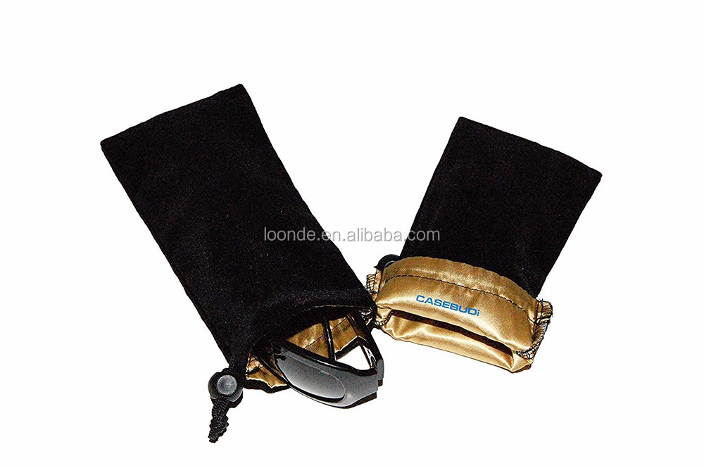 Premium velvet with silky satin lining sunglasses and glasses case bag