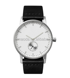 2015 Best selling products top quality custom logo 5 atm stainless steel mens watch with ultra-thin import movt watch factory