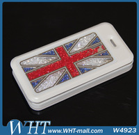 Luxury White Leather Case For iPhone5,For iPhone 5 Crystal Bling Bling Case Manufacturer