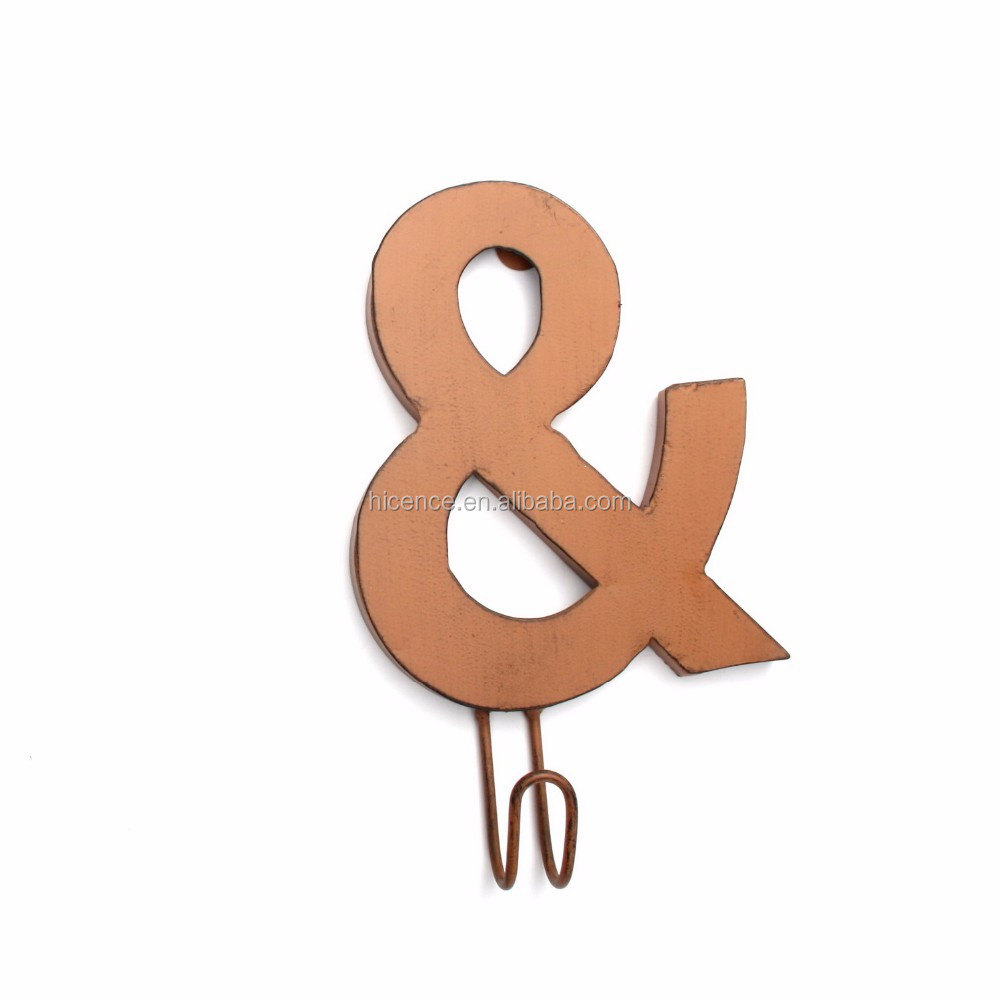 New Single Decorative Metal Vintage Coat Hooks