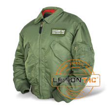Flight Jacket adopts high strength nylon or Dupont nylon which is specialized to be used in flight and aircraft