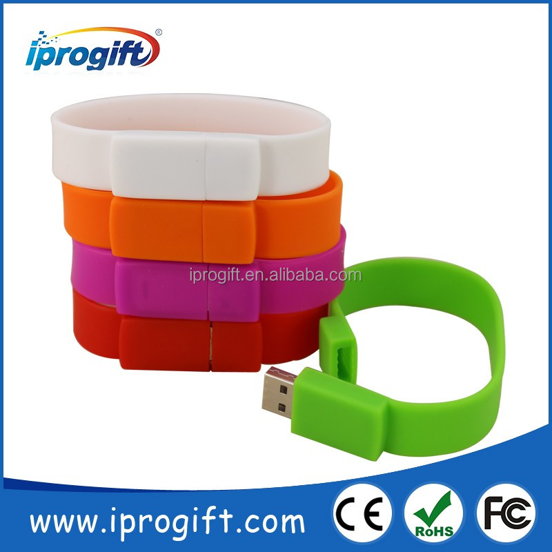 2016 wholesale Promotion gifts Customized logo full capacity Bracelet USB Flash Drive USB 512MB 1GB 2GB 4GB 8GB