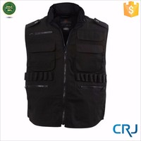 2015 fashion mens zip up black in plus size fishing Vest