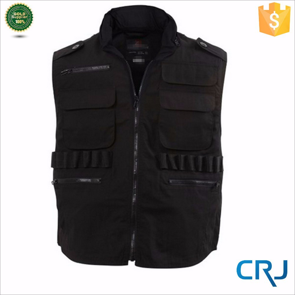 Cutsom Fashion Mens Fishing Vest Zip Up