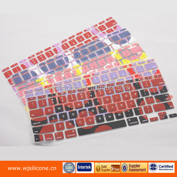wireless silicone keyboard cover, custom printing wireless silicone keyboard cover