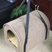 Quality primacy new import easy carry-on stripe big model bed portable fleece dog house pet bag