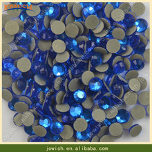 Wholesale iron on flat back cristal machine cut glass stones bling crystal stone for saree wedding dress