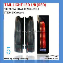 toyota hiace body parts NEW MODEL #000731 hiace latest tail light LED(RED) for hiace van,hiace200 commuter parts