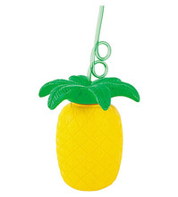 Amazon Hot Selling 2018 Hawaiian Luau Beach Summer Party Decoration Supplier Novelty Plastic Pineapple Cup