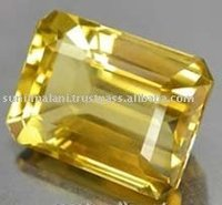 Natural Yellow Citrine Emerald Cut Loose Stone