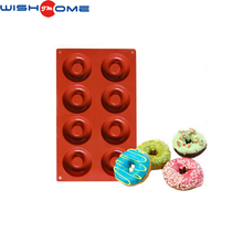 JianMei Brand 8 round donuts pop DIY FDA Silicone Cake Mold