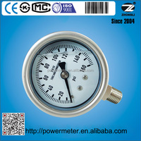 Bottom connection 2.5 inch 63mm wika pressure gauge manometer 160 psi