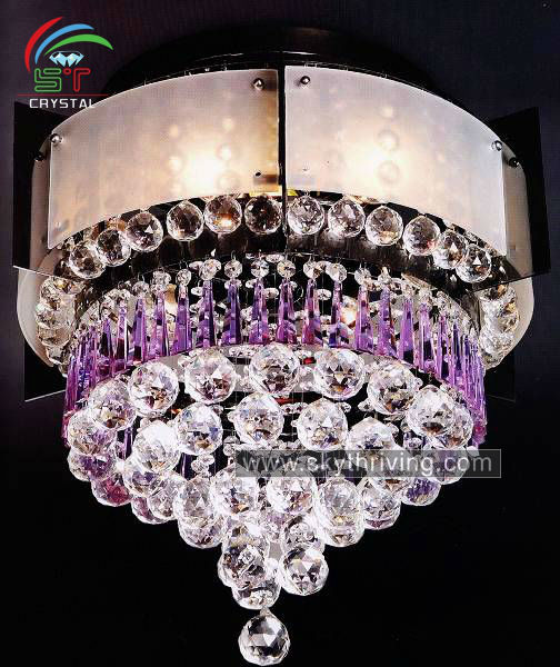 purple crystal chandelier color