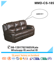Double Reclining Bed Sofa in Brown Leather,Brown Leather Sofa,Leather Sofa in 2016