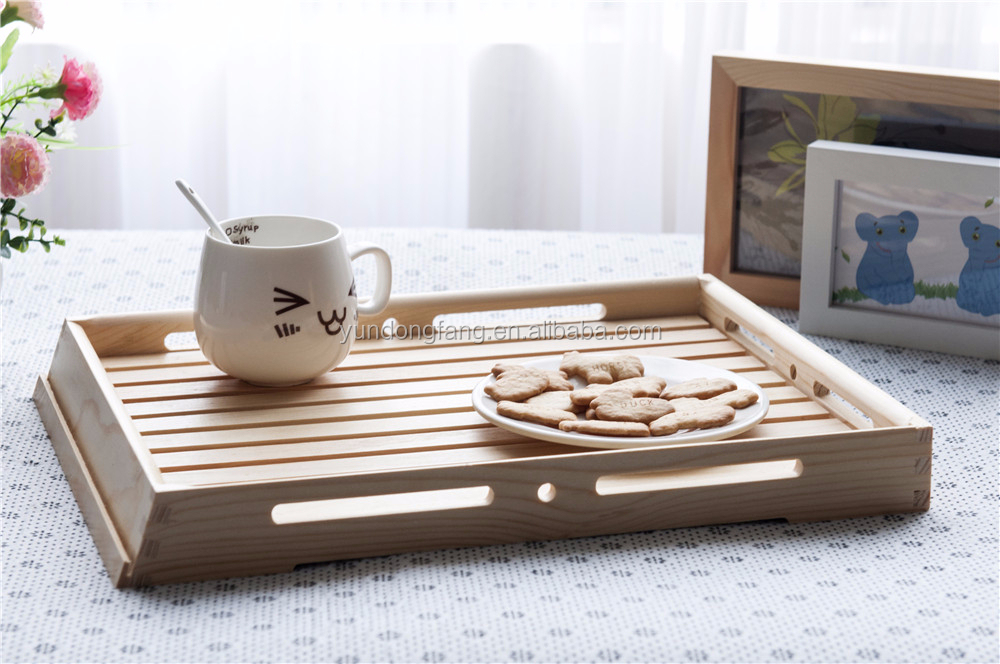Cheap wooden fruit tray bread tray wooden serving tray
