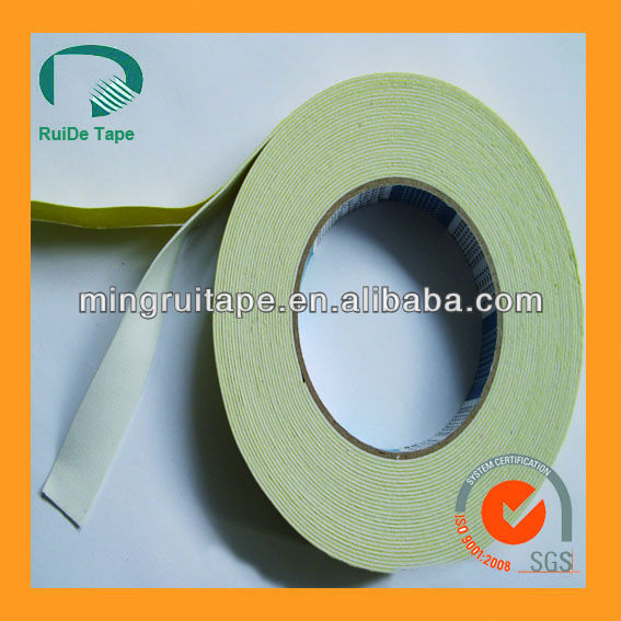 strong adhesive double sided foam tape with solvent glue