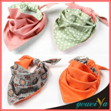 Printed Green Dot Baby Triangle Kerchief
