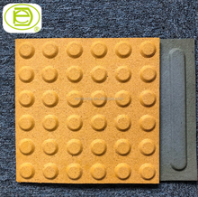 Grey Yellow Rubber Blind Tracks Tactile Bricks