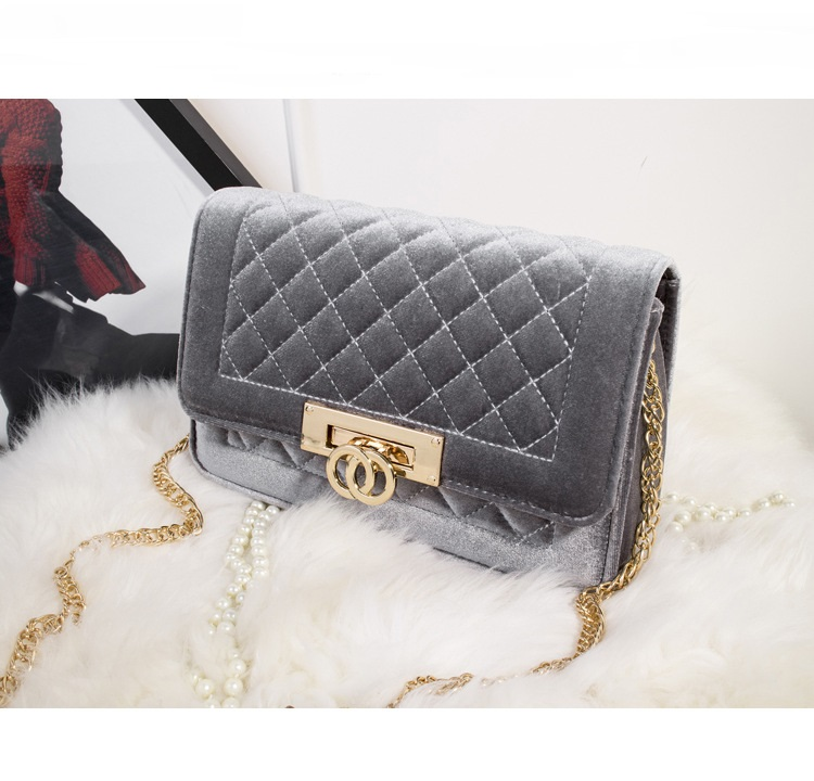 Classic branded fashion velvet chain bags women shouder bags for winter