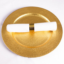 elegant cheap charger plates13&quot; Gold Plastic round Charger <strong>Plates</strong> for sale