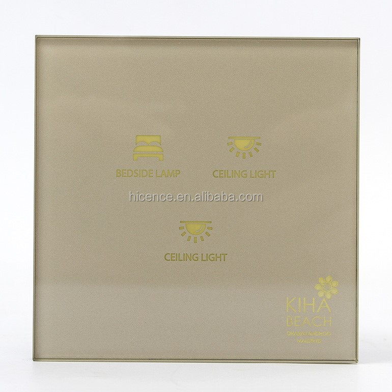 Tempered Glass Master Control 5 Gang Hotel Touch Wall Switch
