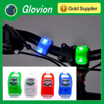 silicone led bike bicycle light mini silicone led bicycle light led bicycle light with rubber