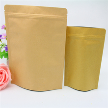 high quality customized zip lock kraft paper coffee bag