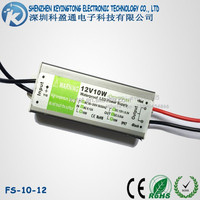 Constant Voltage 10W LED Driver ac 90-265V to dc 12V Waterproof Power Supply IP67