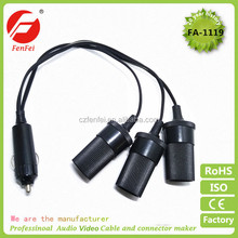 Wholesale car Auto Boat Cigarette Lighter Power Socket Outlet Plug DC 12V Cable