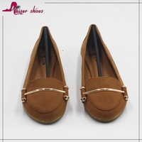 SSK16-306 Spring women flat casual leather shoes brown