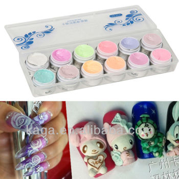 KAGA 3d gel nails fashion nail art