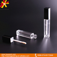 square luxury clear lip gloss container