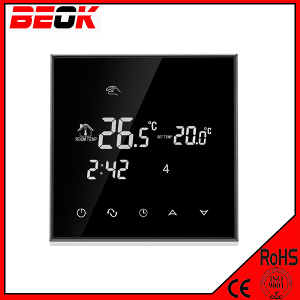 TGT70-WP Touch Screen Programmable Water Heater Floor Heating Thermostat for Cold Room