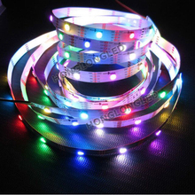 Waterproof 2811 Driver IC Flexible 5050 RGB LED Strip 5050 led strip RGB with IC 2812 300leds,5m/reel