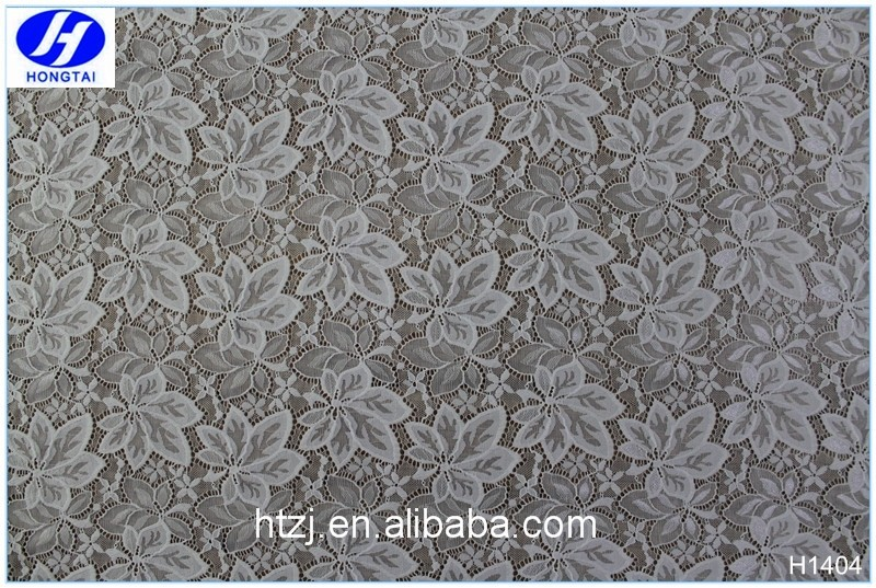 Hongtai Wholesale lace trim and fabric supplier Fashion Mesh new design lace farbic for clothing in china