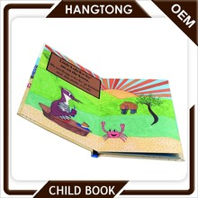 Well learning english cardboard children book printing hard cover mini