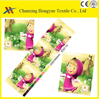 Baby designs Polyester 3D twill printing fabric for baby bedding fabric from factory