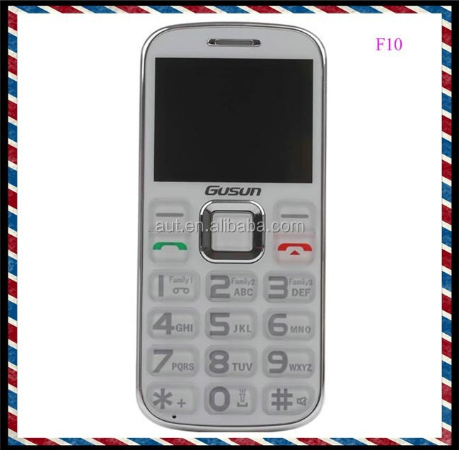 2015 new arrival dual sim 2.0 inch quad band big button mobile phone for seniors F10 celluar