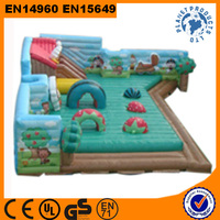 Commercial Grade Large Inflatable Fun City For Kids
