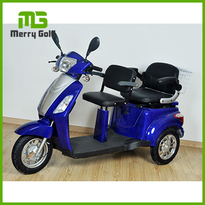 two-seat 3 wheel electric scooter handicapped trike for older people